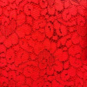 Beautiful red lace Banana Republic Dress
